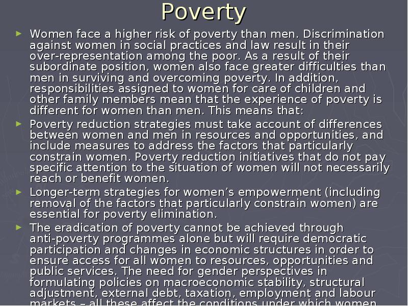 eradication of poverty Poverty guidelines, research, and measurement.